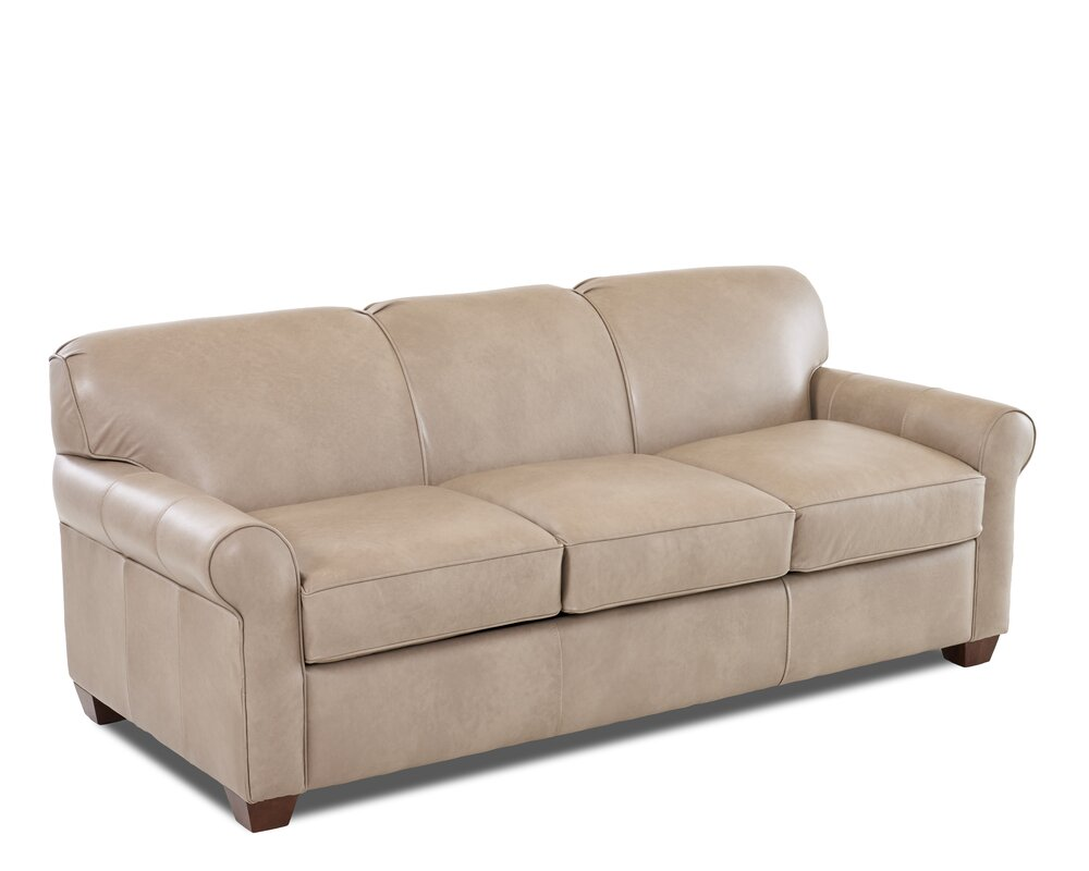 wayfair custom upholstery u2122 jennifer leather sleeper sofa