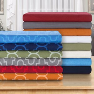 Cullen 4 Piece Solid Cotton Flannel Sheet Set