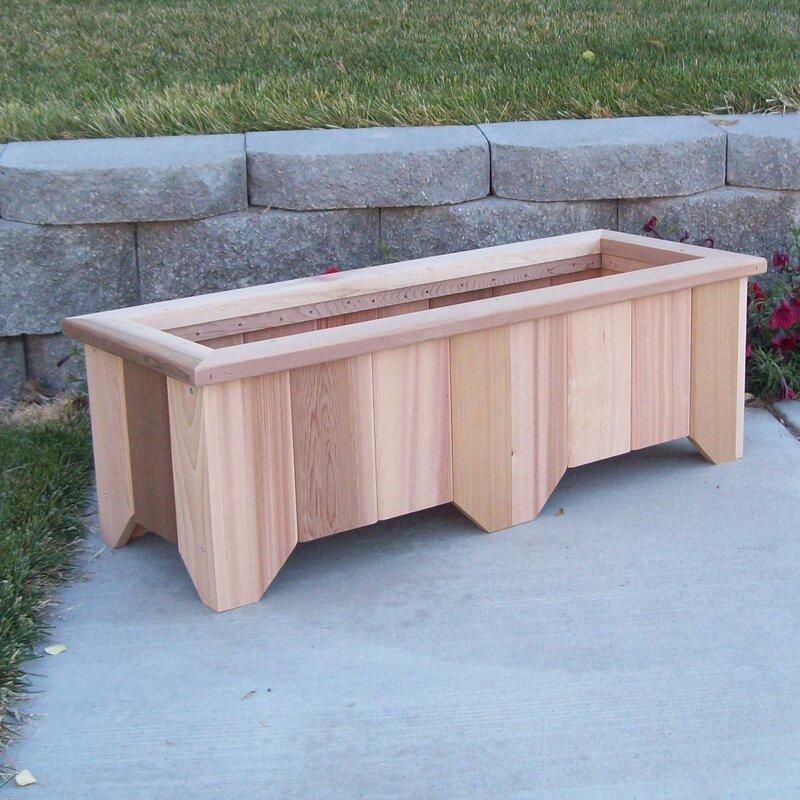 Woodcountry cedar planter box reviews wayfair cedar planter box workwithnaturefo