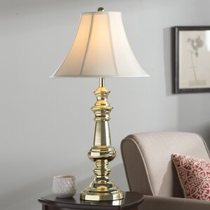 Table lamps youll love wayfair marmon polished brass 32 table lamp with shade set mozeypictures Images