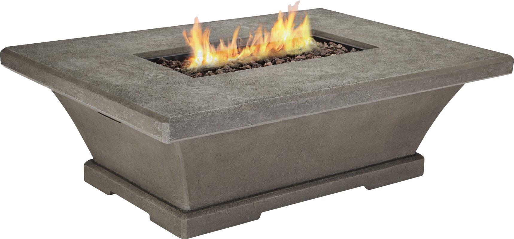 real flame monaco concrete propane fire pit table reviews. Black Bedroom Furniture Sets. Home Design Ideas