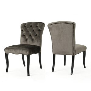 Binning Armless Upholstered Dining Chair (Set of 2) by Rosdorf Park