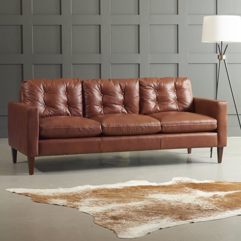 Best Leather Sofas In Us: DwellStudio Florence Leather Sofa & Reviews