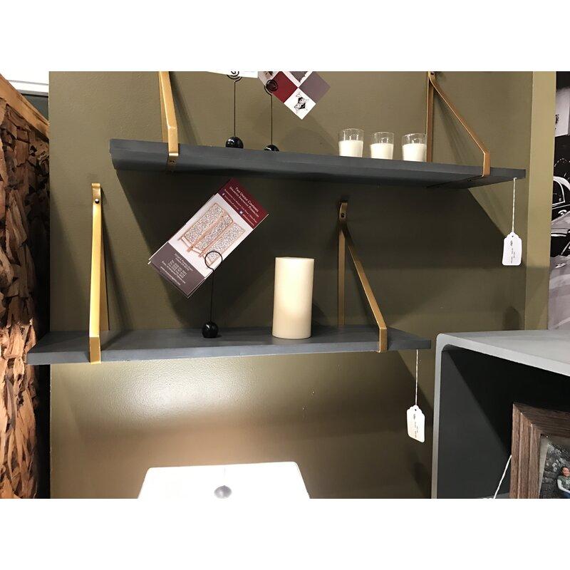 01fd44c31b68 Wooden Metal Floating Shelf   Reviews