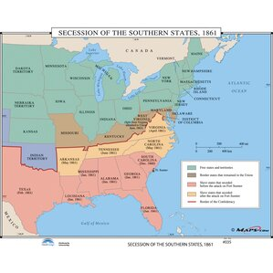 U S History Wall Maps Secession Of The Southern States