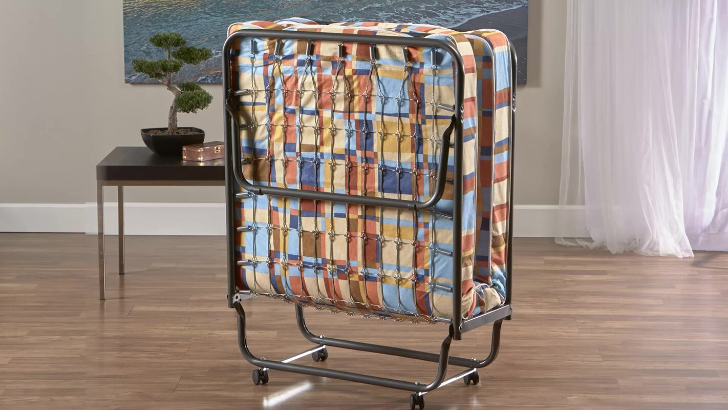 Torino Folding Bed With Metal Frame And Reversible Mattress