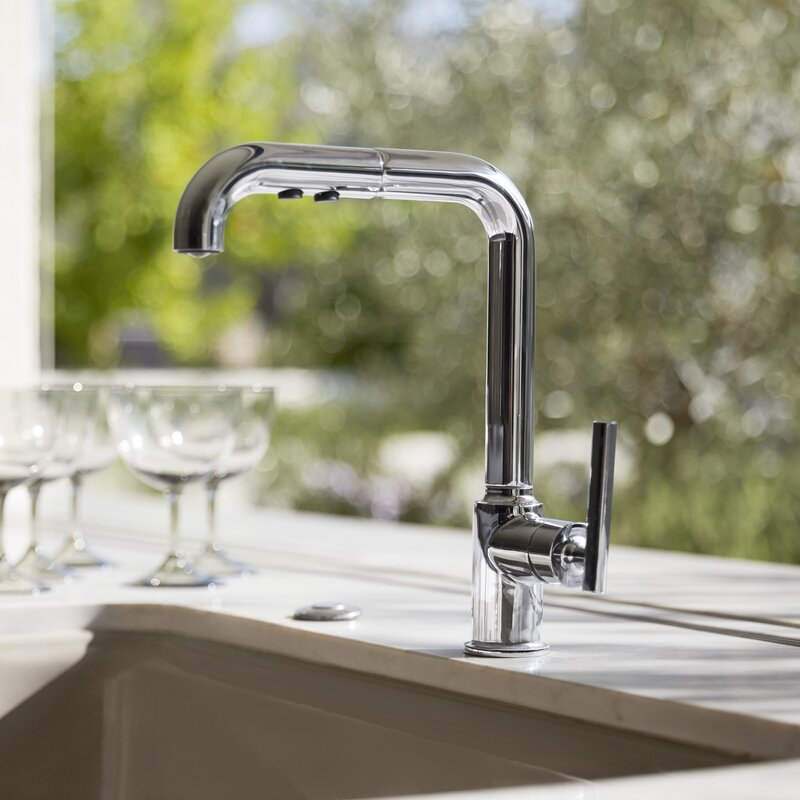 K 7505 Bl Cp Vs Kohler Purist Single Hole Kitchen Sink Faucet With 8