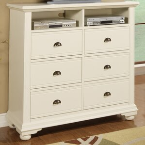 Tarquin 6 Drawer Media Chest by Beachcrest Home