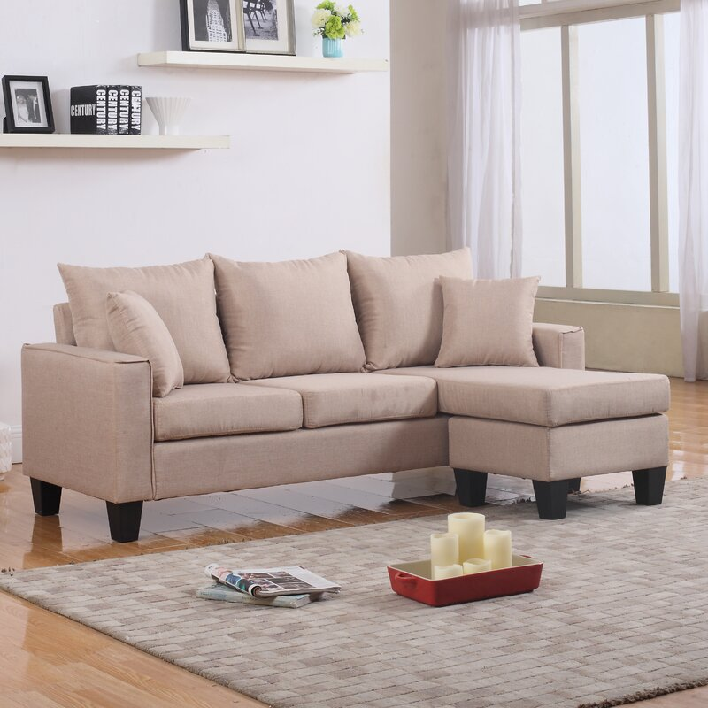 Janna Reversible Sectional : small sectional loveseat - Sectionals, Sofas & Couches