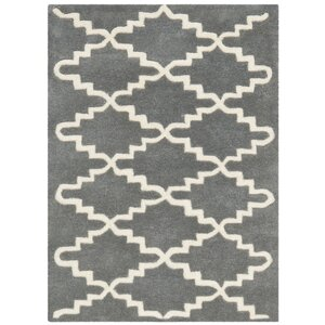 Wilkin Dark Grey & Ivory Area Rug