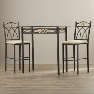 Caruthers 3 Piece Counter Height Pub Table Set