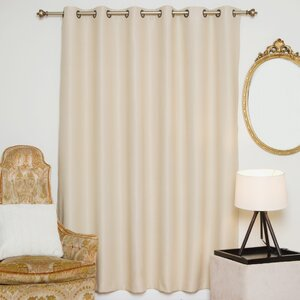 Solid Blackout Thermal Grommet Single Curtain Panel
