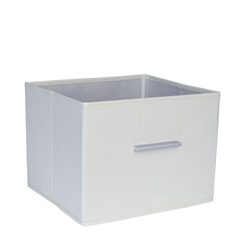 Premium Open Storage Bin With Aluminum Handles