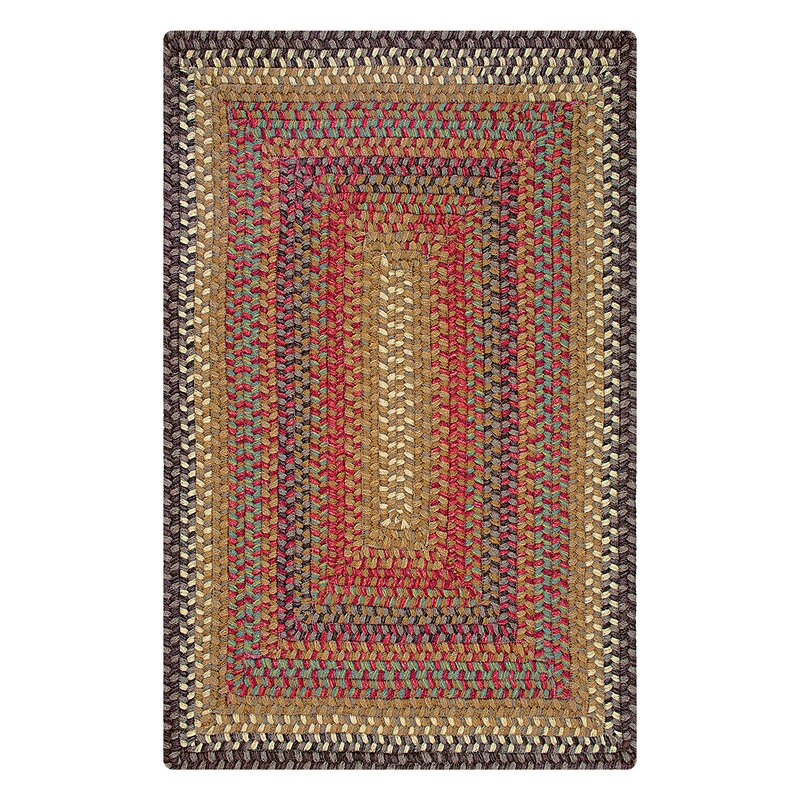 """Kilpatrick Wool Braided Hand-Braided Brown/Chocolate/Red Indoor/Outdoor Area Rug Rug Size: Oval 2'3"""" x 3'0.75"""" -  August Grove"""
