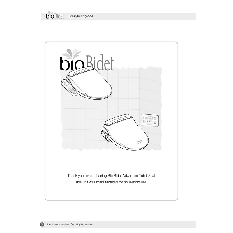 Bio Bidet Installation Instructions.Bio Bidet Prestige Advanced Toilet Seat Bidet Reviews Wayfair