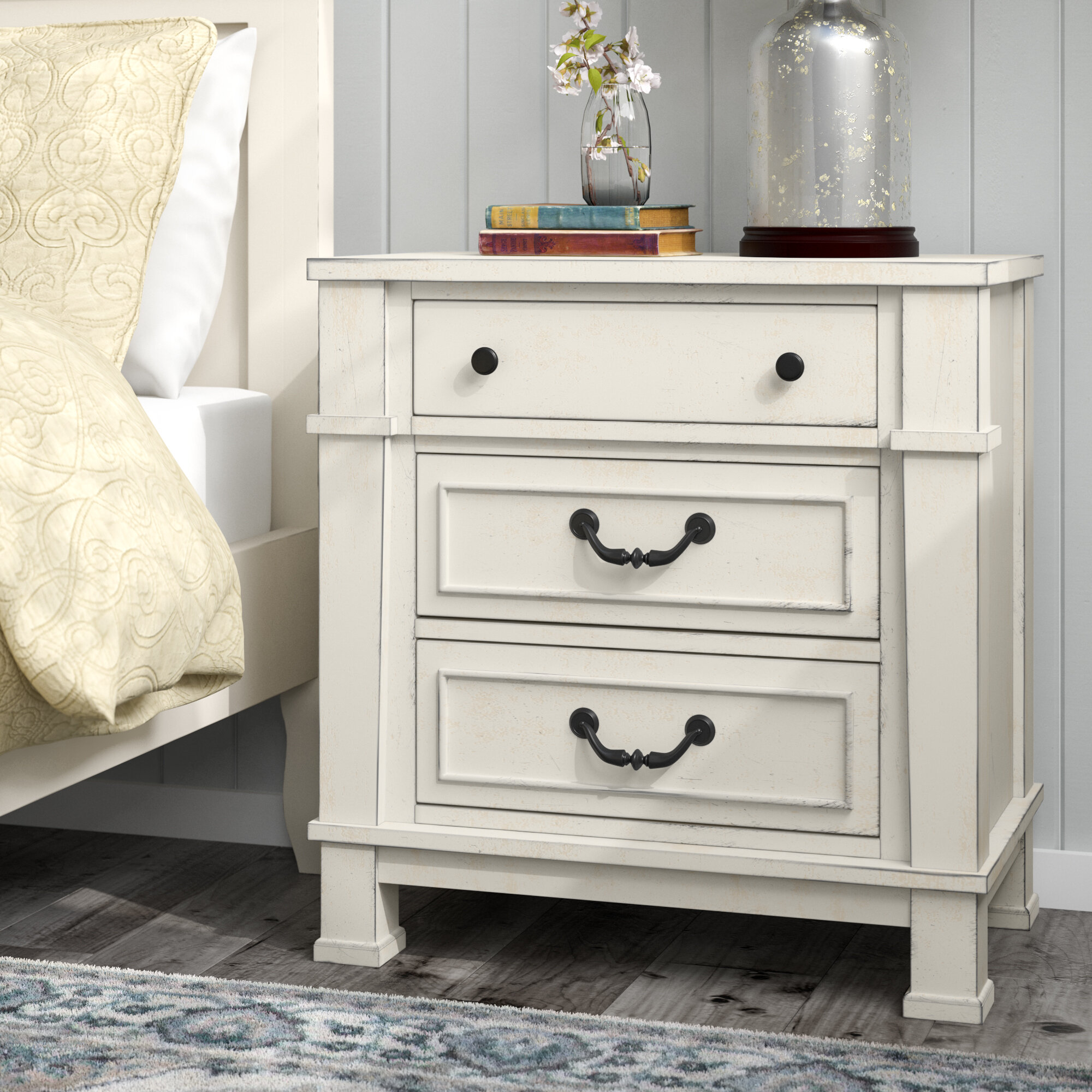 safavieh white nightstand raina key greek reviews drawer