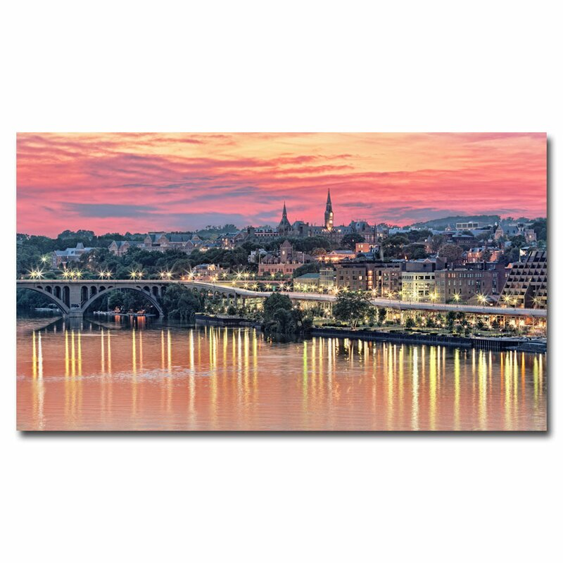 """""""Georgetown In Twilight"""" by Gregory O'Hanlon Framed Photographic Print on Wrapped Canvas"""