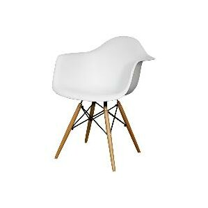 Judah Arm Chair with Wooden Legs (Set of 2) by I..