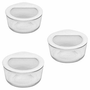 No Leak Lids Dish 16 Oz. Food Storage Container (Set of 3)