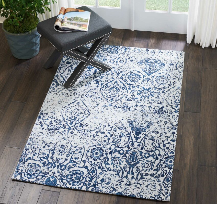 Zipcode Design Kleinschmidt Ivory Navy Area Rug Amp Reviews