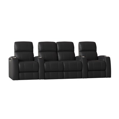 4 Seat Leather Theater Seating You Ll Love In 2019 Wayfair