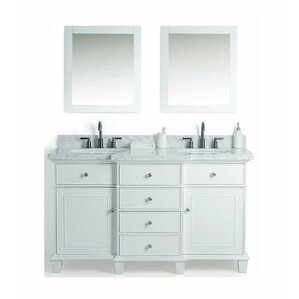 Rizokarpaso Solid Wood 61  Single Bathroom Vanity Set with Mirror Vanities Joss Main