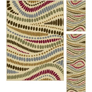 Josefina 3 Piece Beige Area Rug Set