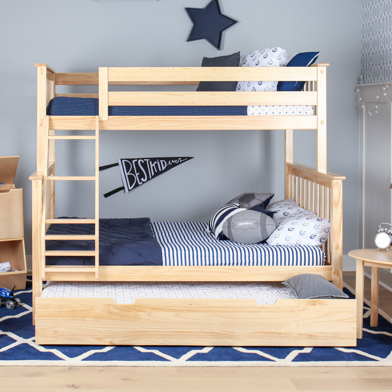 Harriet Bee Juliann Solid Wood Bunk Bed With Trundle Reviews Wayfair