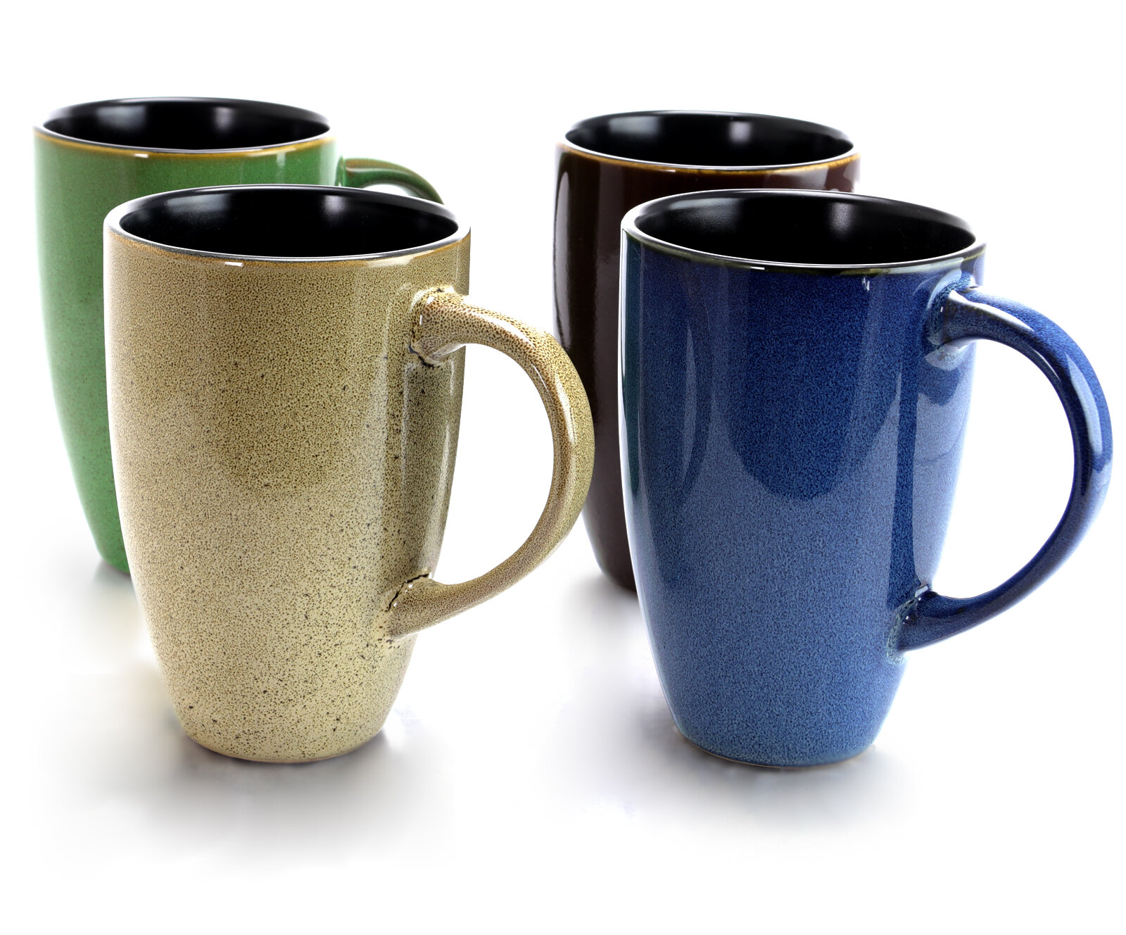 9fac51a2572 Gibson Home Earth Jewels 4 Piece Coffee Mug Set | Wayfair