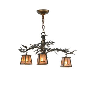 Tree branch chandelier wayfair pine branch valley view 3 light shaded chandelier aloadofball Images
