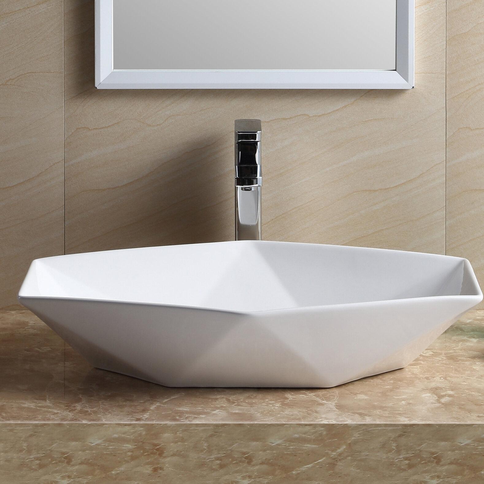 amazing Wayfair Vessel Sinks Part - 6: Fine Fixtures Modern Vitreous China Specialty Vessel Bathroom Sink u0026  Reviews | Wayfair