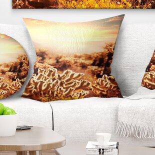 Floral Cactus Plants In Saguaro National Park Pillow