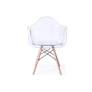 Revis Mid Century Transparent Dining Chair by Varick Gallery