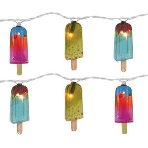 10-Light 11 ft. Popsicle String Lights (Set of 2)