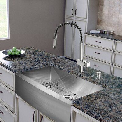 36   x 22   farmhouse kitchen sink with faucet grid strainer and soap vigo 36   x 22   farmhouse kitchen sink with faucet grid strainer      rh   wayfair com