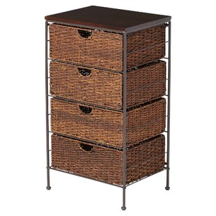 4-Drawer Storage Chest  sc 1 st  Wayfair & 4 Drawer Wicker Storage Units | Wayfair