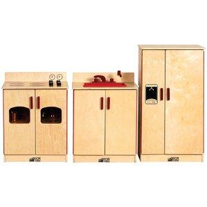 Birch 3 Piece Play Kitchen Set