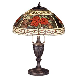 Iron scroll table lamp wayfair roses and scrolls 25 table lamp aloadofball Images