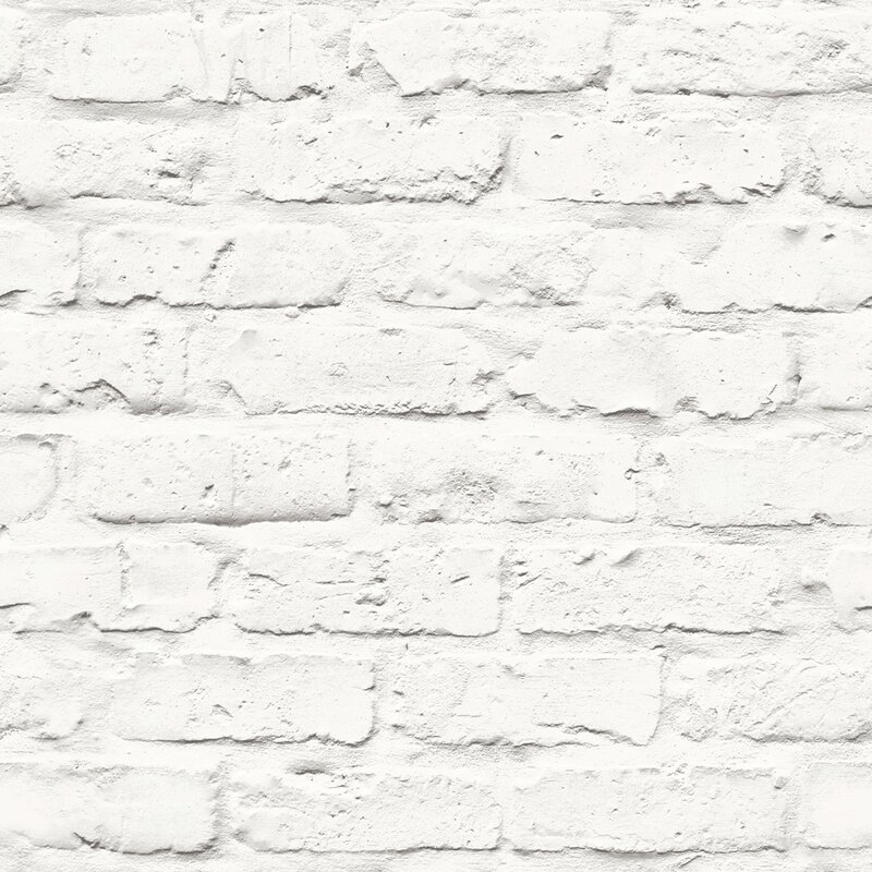 "Turn on the Brights Halpin Faux Industrial Chic 32.97' x 20.8"" Brick Wallpaper Roll"
