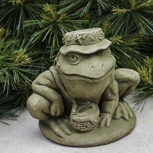 Fisherman Frog Statue