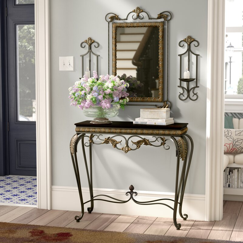 Alcott Hill Byrd 4 Piece Console Table And Mirror Set
