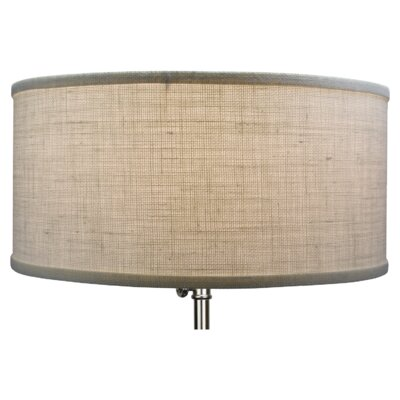 Home concept shallow 18 linen drum lamp shade reviews wayfair 17 burlap drum lamp shade aloadofball Image collections