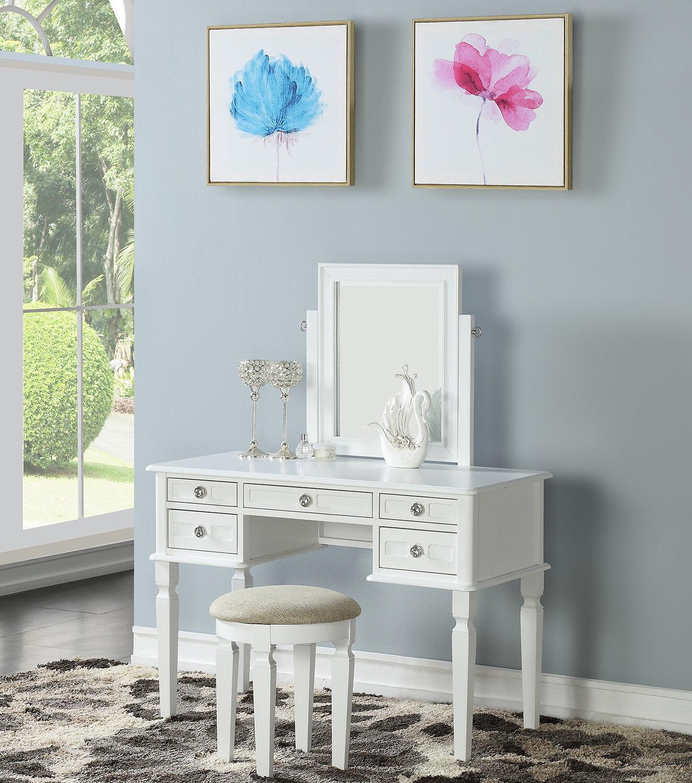 House Of Hampton Ferris Vanity Set With Mirror U0026 Reviews | Wayfair