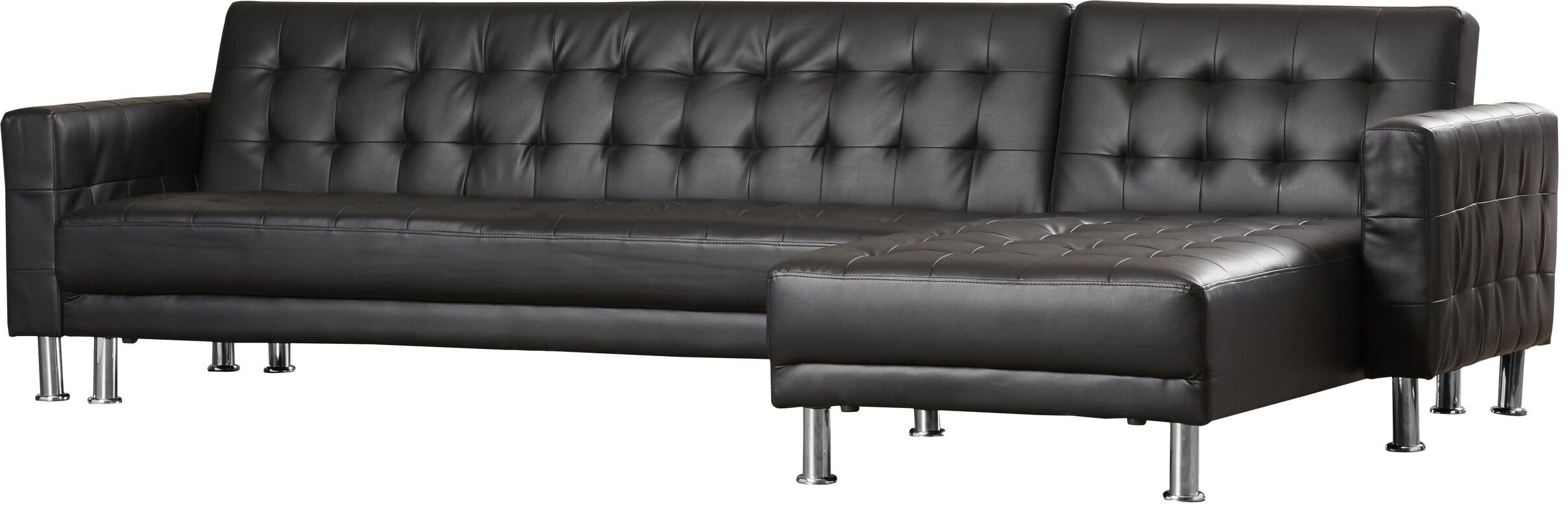 """Marion 116"""" Sleeper Reversible Chaise Sectional & Reviews"""