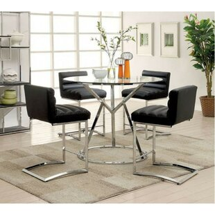 Becket Contemporary 5 Piece Counter Height Dining Set