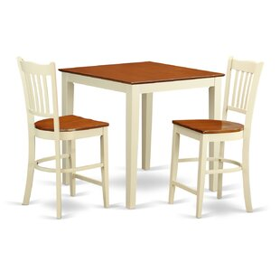 Neven 3 Piece Counter Height Pub Table Set Reviews