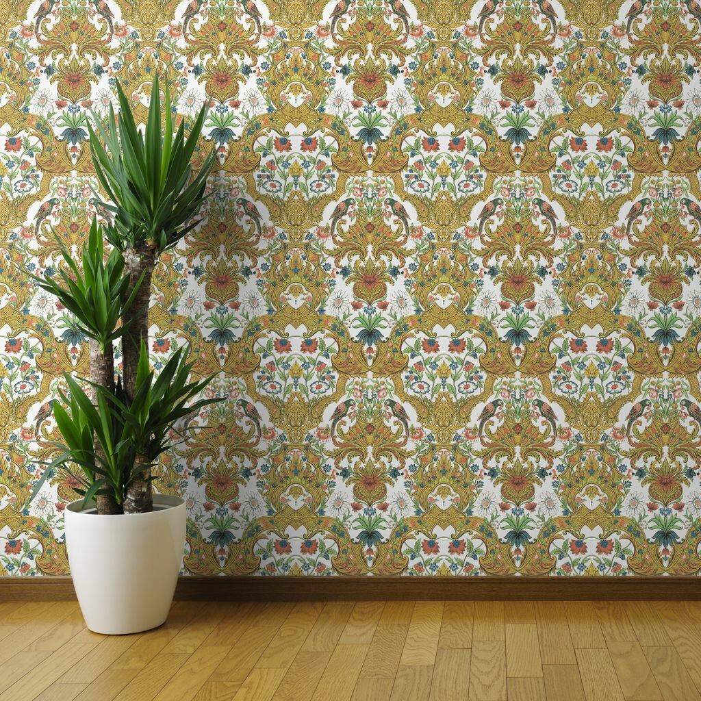 Tecopa Luxurious Damask Removable Wallpaper