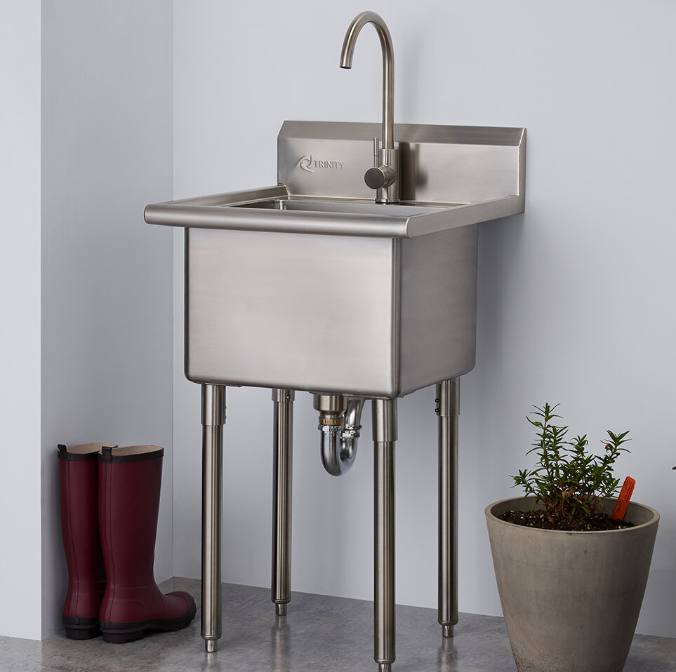 Tha 0303 21 5 X 24 Free Standing Laundry Sink With Faucet