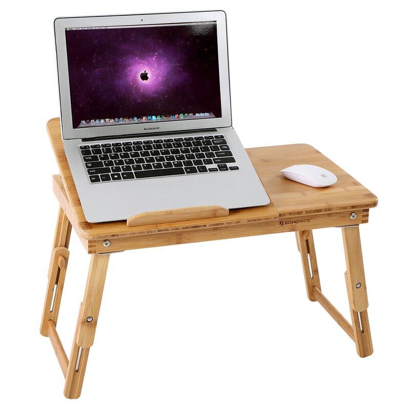 Bamboo Lap Desk Bed Serving Breakfast Tray