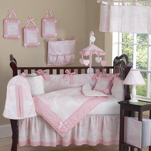toile 9 piece crib bedding set